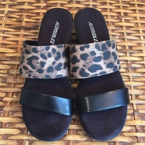 Aerosoles Leopard Slide Sandals